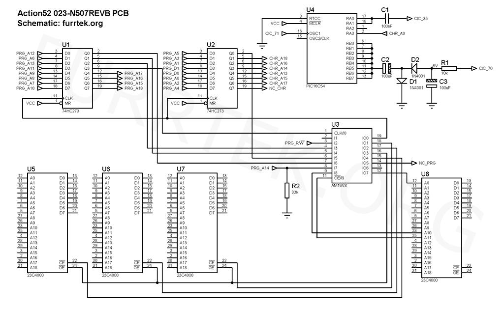 Furrtek.org : Action 52 & Cheetahmen II hardware on nes table, nes dev, nes dimensions, nes controller wire, nes controller wiring, nes motherboard diagram, nes model, nes power supply, nes prototype, nes parts list, nes led, nes snes, nes map,